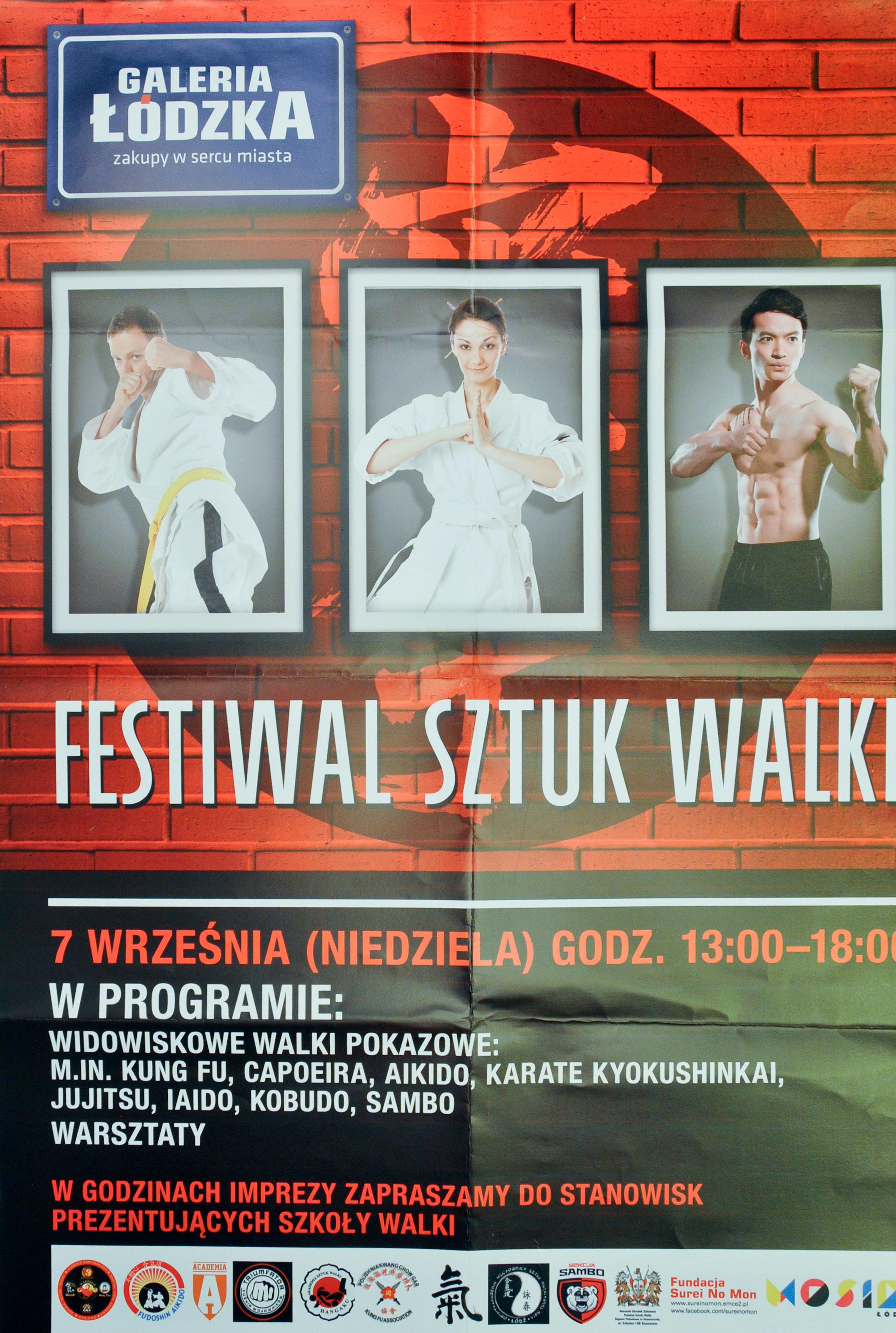Muzeum Sportu I Turystyki Plakat Festiwal Sztuk Walki W