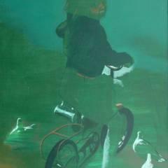 Antoni Fałat - Na rowerze